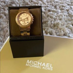 "Michael Kors ""Dylan"" Medium Watch w/ Crystals"